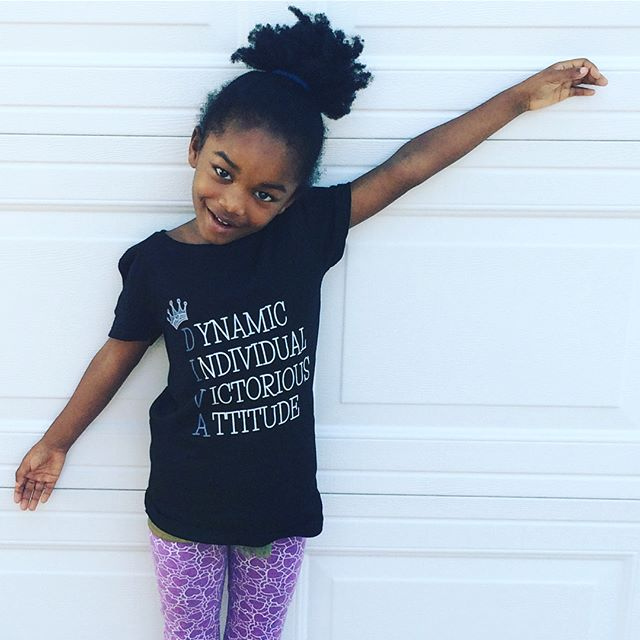 Surprise! We debuted our #LilDiva design on our Facebook page today. So excited to share this labor of love that's inspired by and created for my #LilDiva - a Dynamic Individual with a Victorious Attitude! Shirts will be available for purchase by the end of the night 💜💕💜 #launch #newproduct #tshirt #diva #instacute #instakids #ColumbiaSC #homebasedbusiness #onlineshopping #freeshipping #momlife #mompreneur