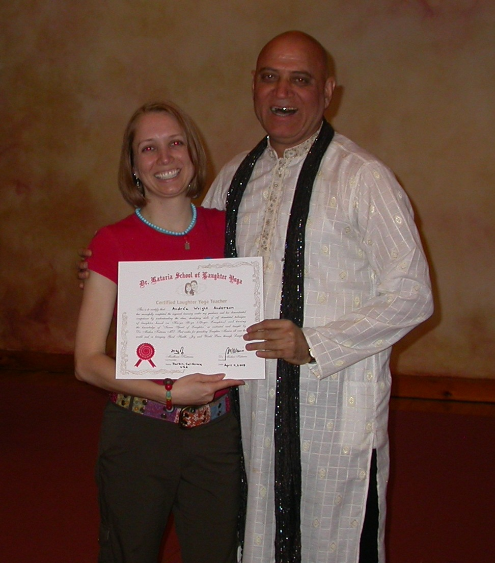 Founder Dr. Madan Kataria & I at my Laughter Yoga Teacher Training - April 2010