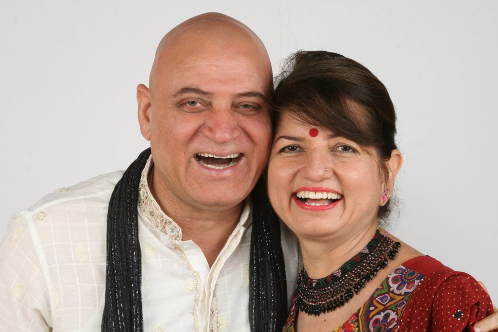 Dr. Kataria & Madhuri, his wife.