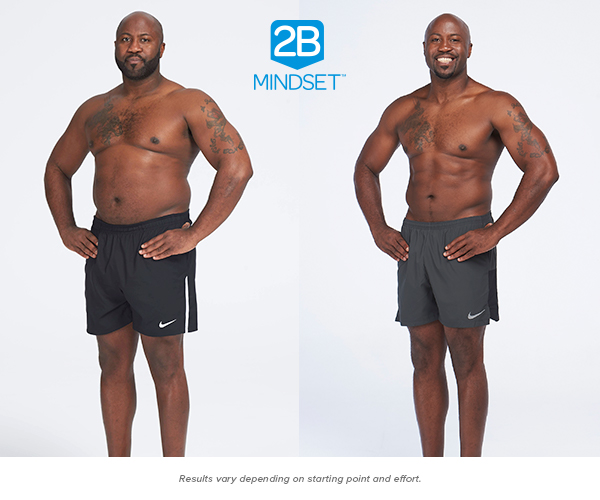 """Nathaniel G. lost 35 pounds - """"I've never lost 35 pounds before. This is the first time. I don't feel hungry. I don't feel starved. The things I craved before, I no longer do… I eat more in volume and variety than I did before. I don't consider the 2B Mindset a diet; I consider it a lifestyle change — and it's made the hugest change in my life. I feel fantastic and I want to maintain the way I feel. With the 2B Mindset, I have all the tools in my possession,"""" says Nathaniel"""