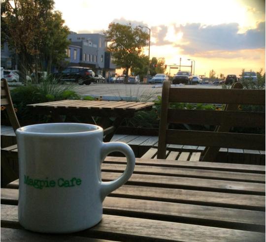 Magpie Cafe logo ceramic mug