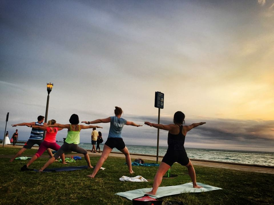 The Ultimate Relaxation - Sunset Beach Yoga in Hawaii. I have practiced yoga in some pretty spectacular places but this would have to be one of my favourites.