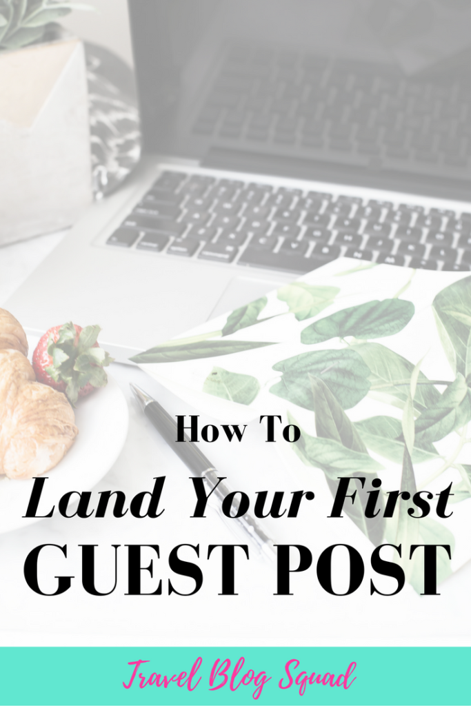 How To Land Your First Guest Post (And Use It To Your Advantage!). Guest posting on another blog can be so helpful in expanding your audience and driving traffic to your travel blog. But, you have to guest post strategically and use it to your advantage. Click here to read more and land your first guest post now!