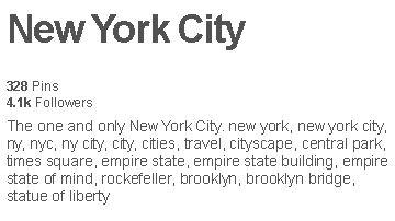 Example of a keyword rich board description