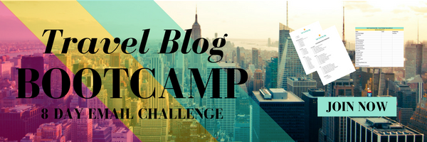 8 Day Travel Blog Bootcamp