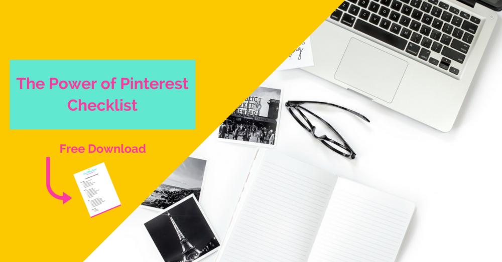 Free Pinterest Checklist