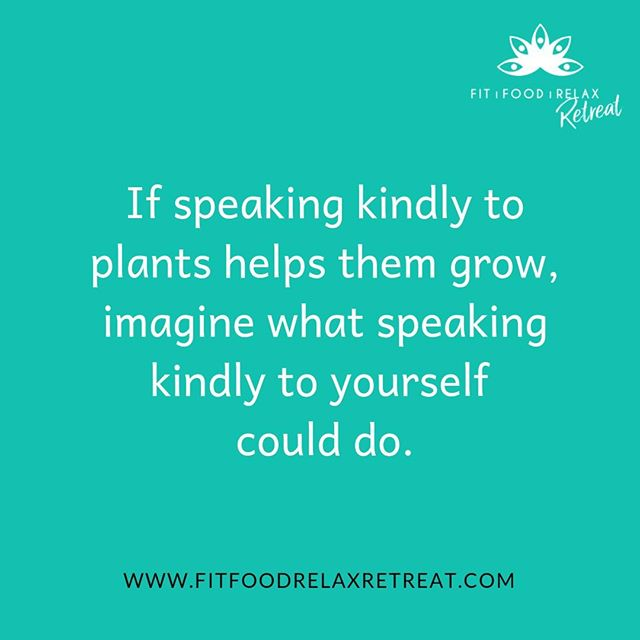 SPEAK KINDLY TO YOURSELF // have you ever considered how you'd feel if someone said to you some of the words you say to yourself...? It's time we start changing our relationship with ourselves - speak kind and speak love because you're one-in-a-million!