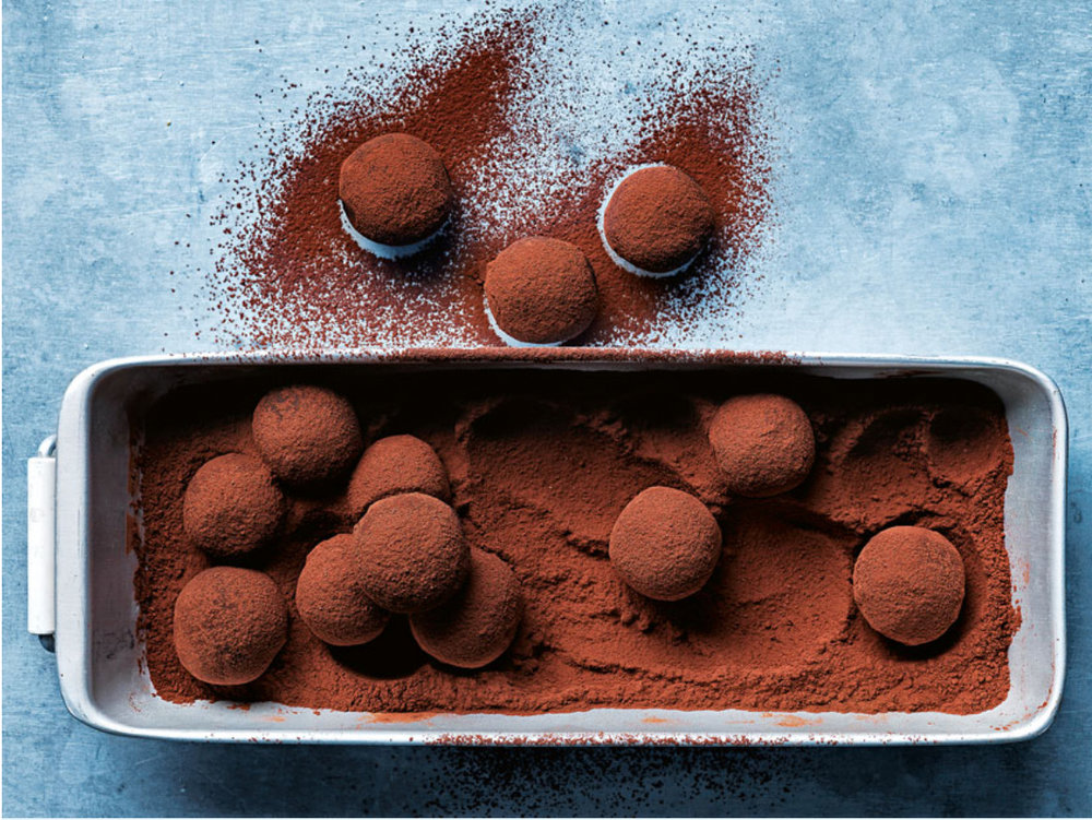 donna hay's chocolate date & peanut butter truffles