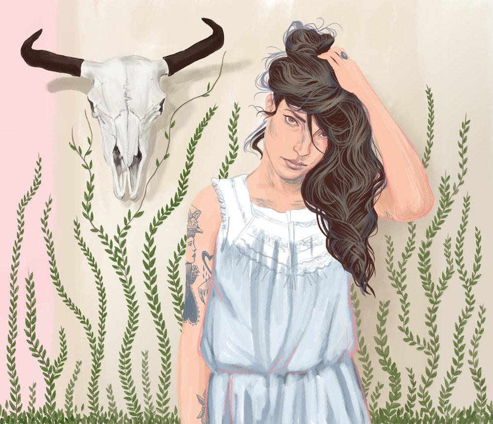Digital painting, creative portrait