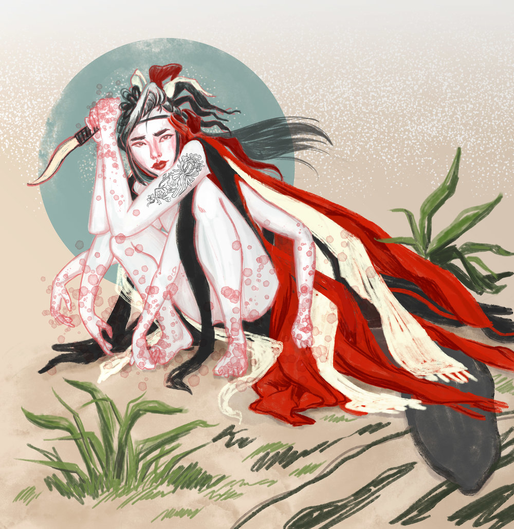 Digital Painting, demon character design