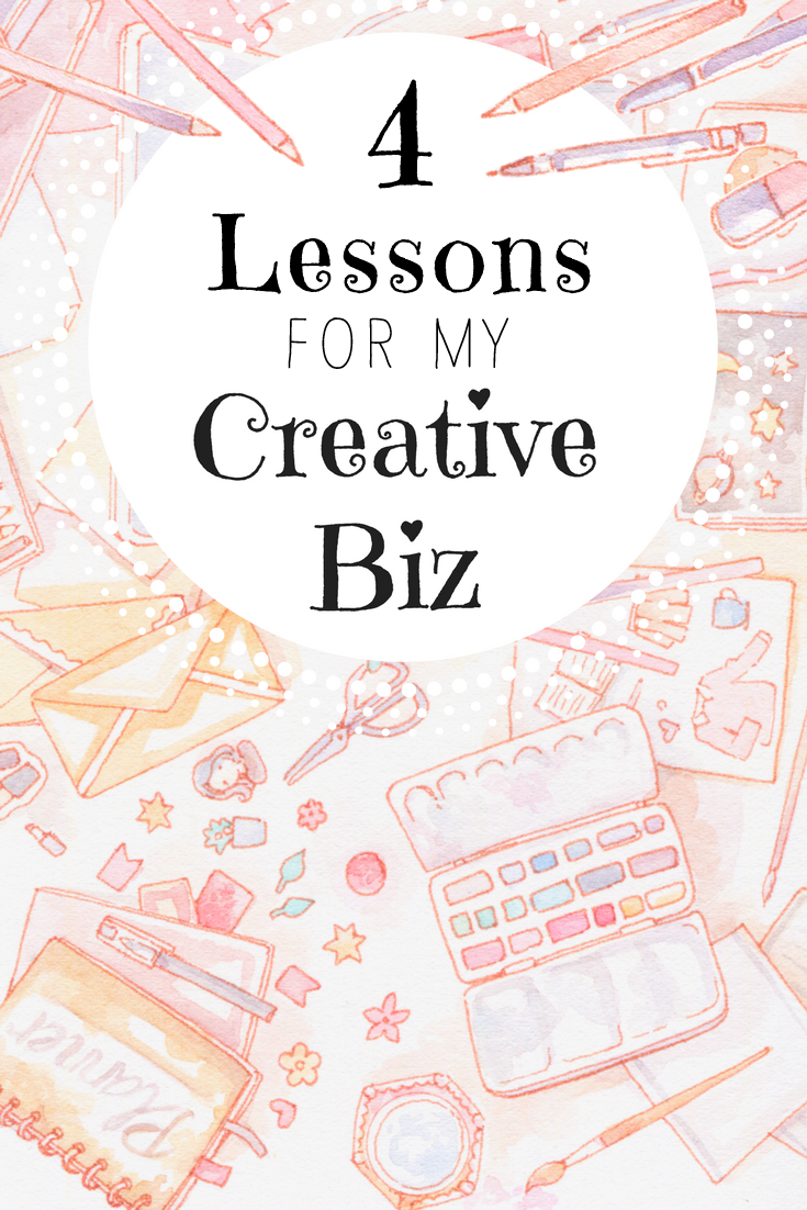 4 lessons learned from four months of blogging for my creative business, Etsy shop and freelancing work. Find the tips, my pageview slump and my income report in the blog post. :)