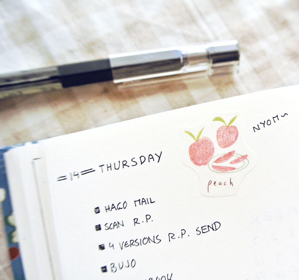 Simple stickers in a minimalist bujo layout...
