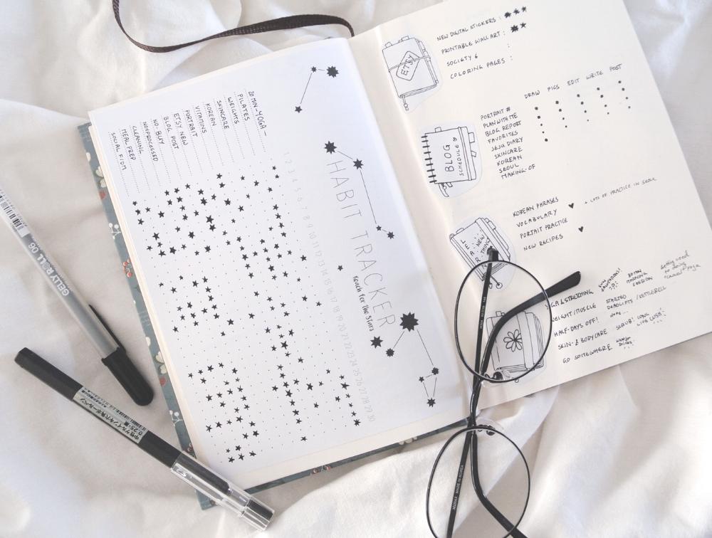Genoeg A Month in My Bullet Journal - July's Doodles — evydraws @SK09