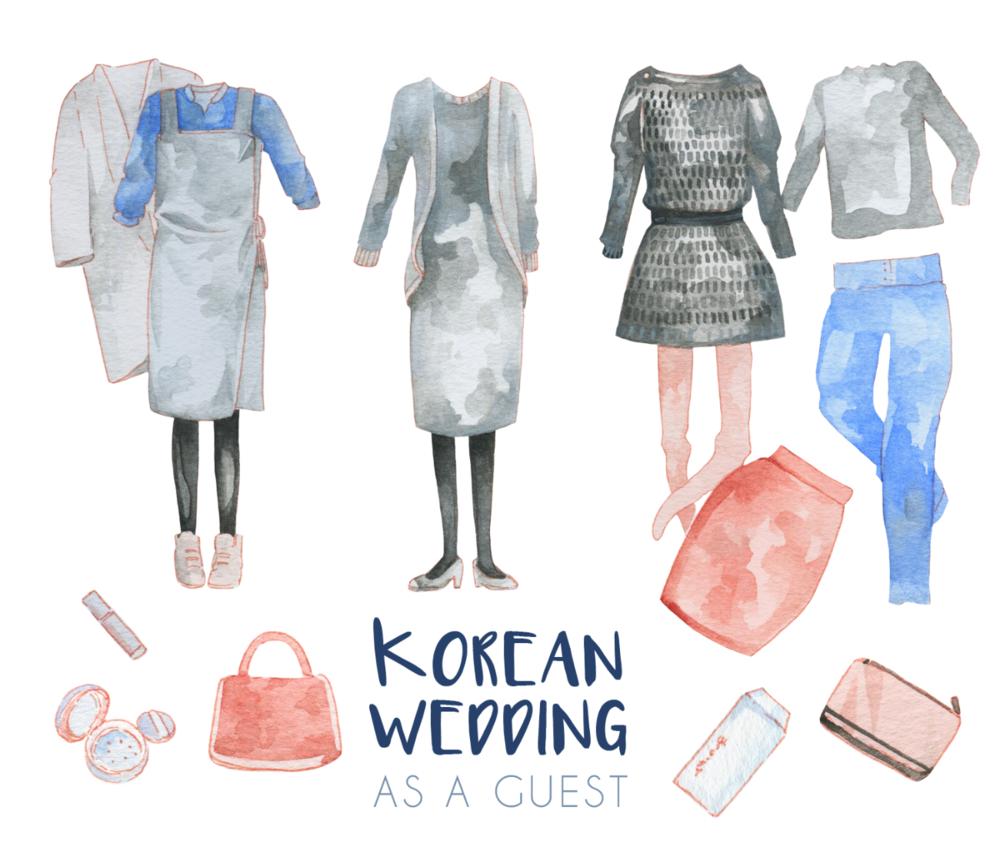 Korean Wedding Guest Dress Code & Etiquette - Illustration — evydraws