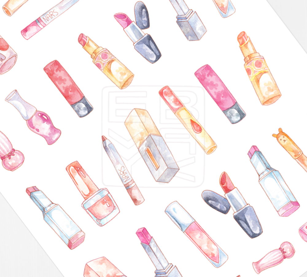 VDL's Cube lipstick is part of my lipstick sticker set - head here for the printable!