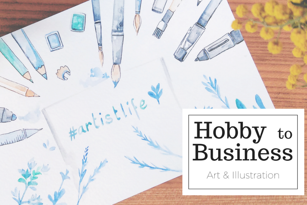 how I turned my hobby into a business - working from home as a freelance artist & illustrator