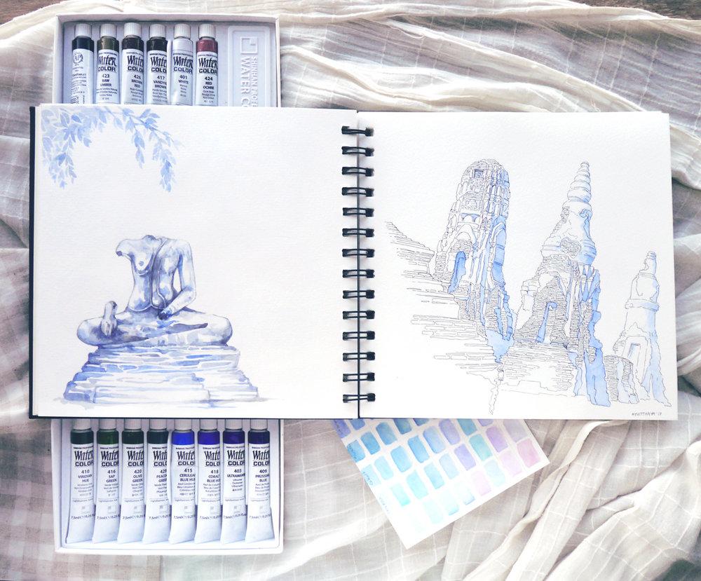 thailand-ayutthaya-ruins-travel-sketchbook-artist.JPG