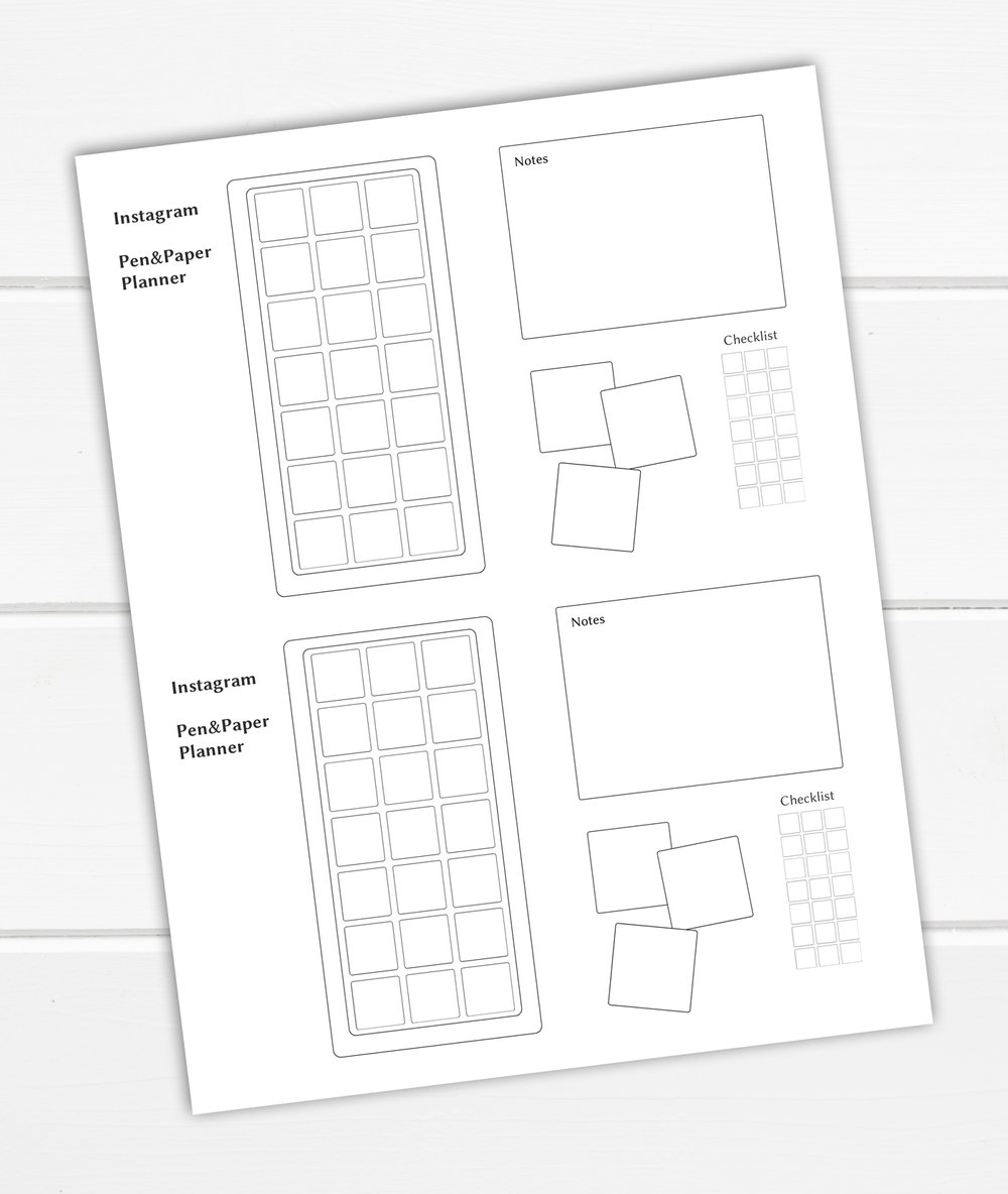 instagram in my bullet journal cohesive feed planner tracker free printable evydraws. Black Bedroom Furniture Sets. Home Design Ideas