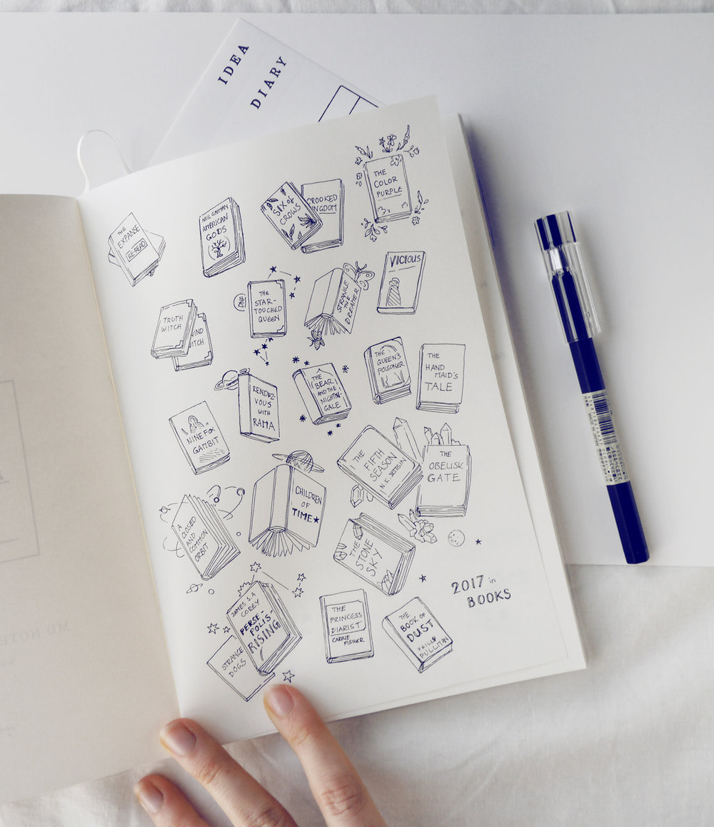 Creative notebook with tasks by your own hands