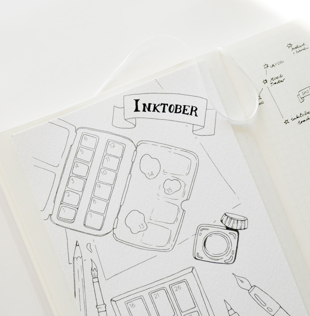 I made a printable Inktober tracker for my bullet journal.   Since I love habit trackers and bullet journaling in general, I definitely wanted a unique and creative way to keep track of my progress during this art challenge!