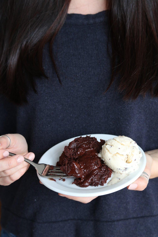 Chocolate lava cake from my Vegan Comfort Food video :)