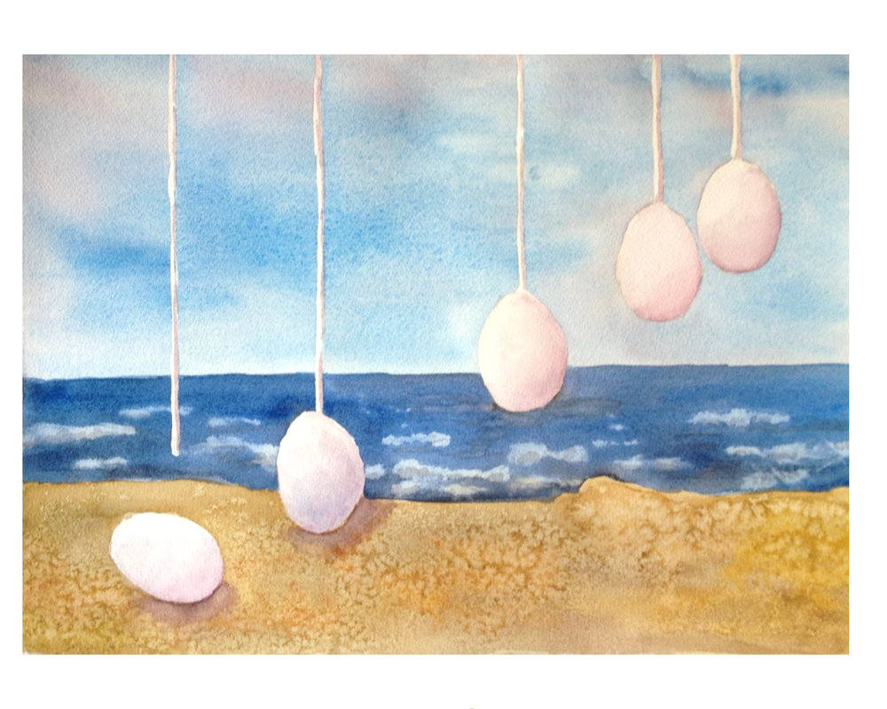 "Sibling Eggs at the Waterline  | 16""x 20"" 