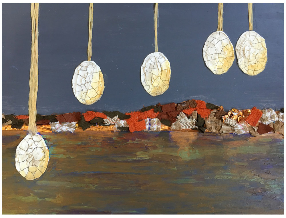 "Sibling Eggs by the Shore | 11""x 14"" 
