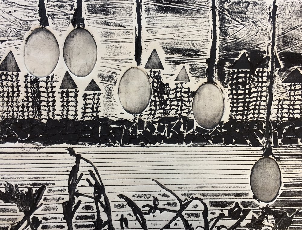 "Sibling Eggs in the Weeds | 11""x 14"" 