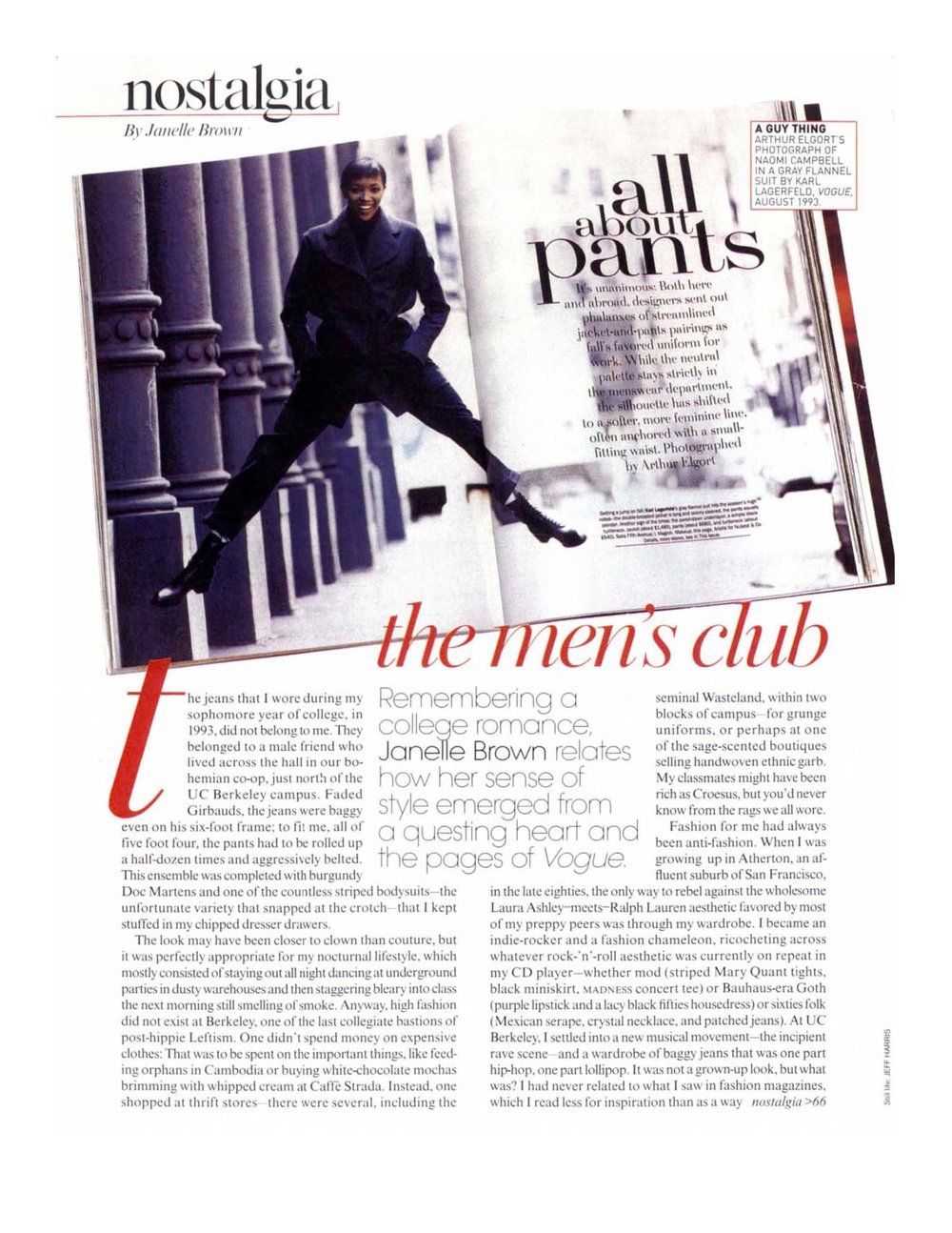 The Men's Club Remembering how a college romance inspired a sense of style.