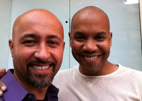 Darius de Haas and I about to rehearse my arrangement of  Lost in the Wilderness before performing it as part of NYCLU's Annual Gala Event.
