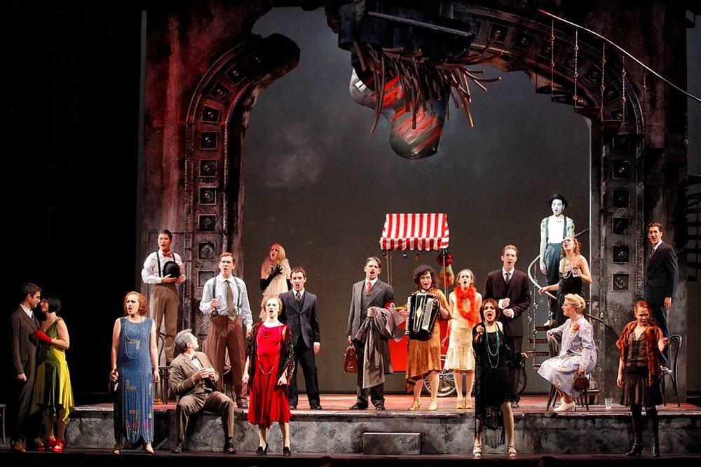 The cast of Brandeis University's production of  Cabaret .