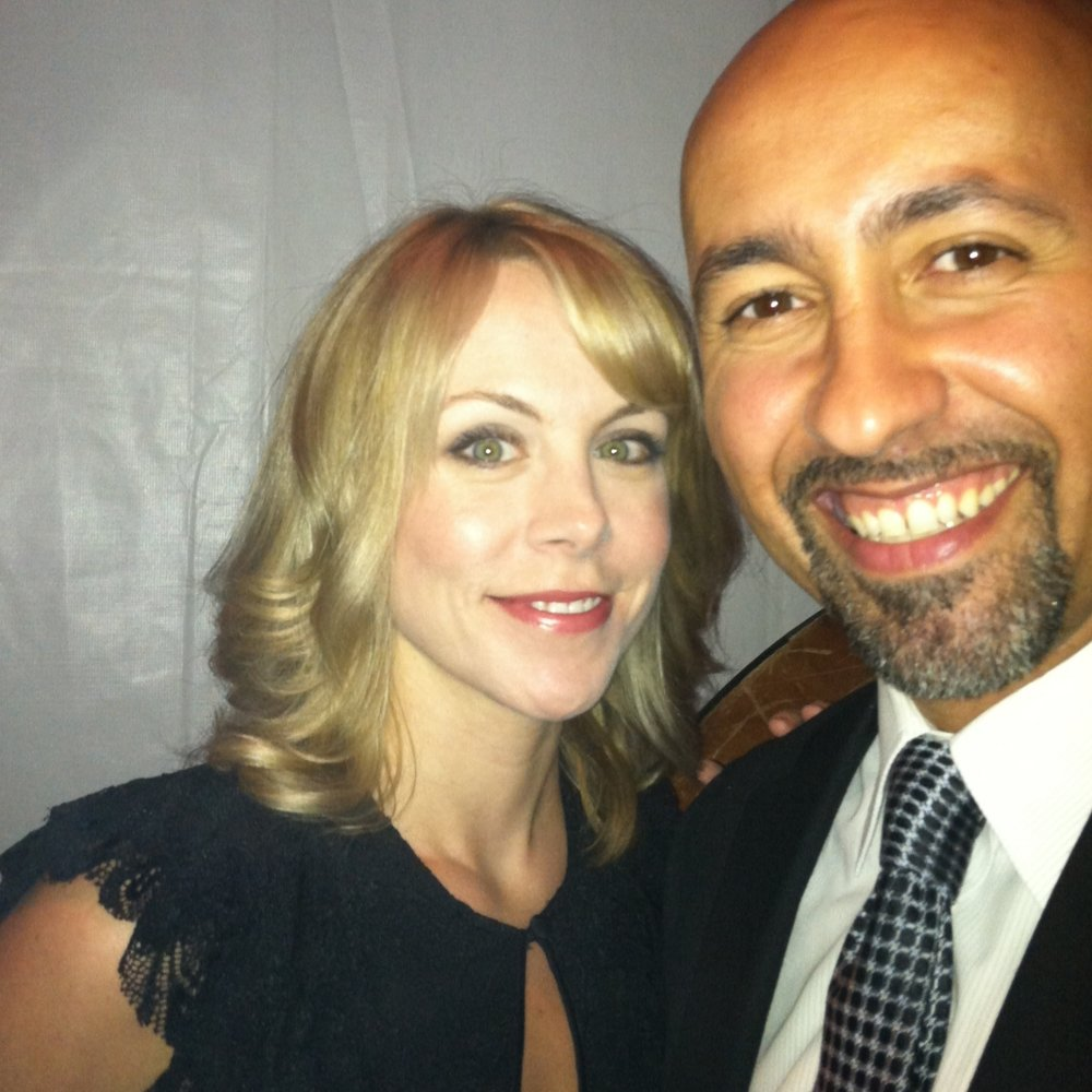 With the lovely Mary Faber after performing for MGH's event honoring Dr. Steven Zeitels.