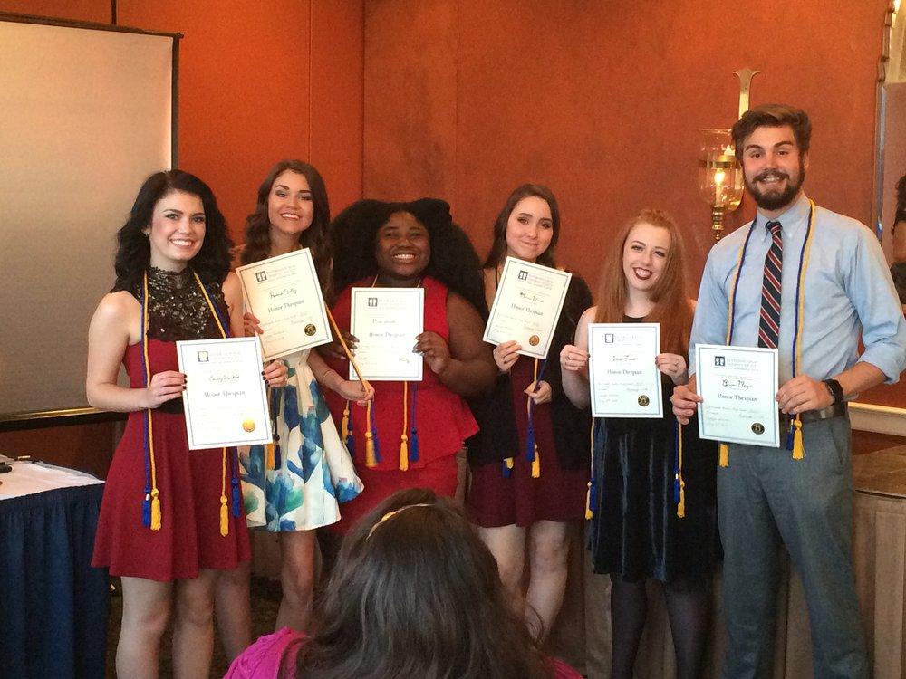 Senior Honor Thespians 2016
