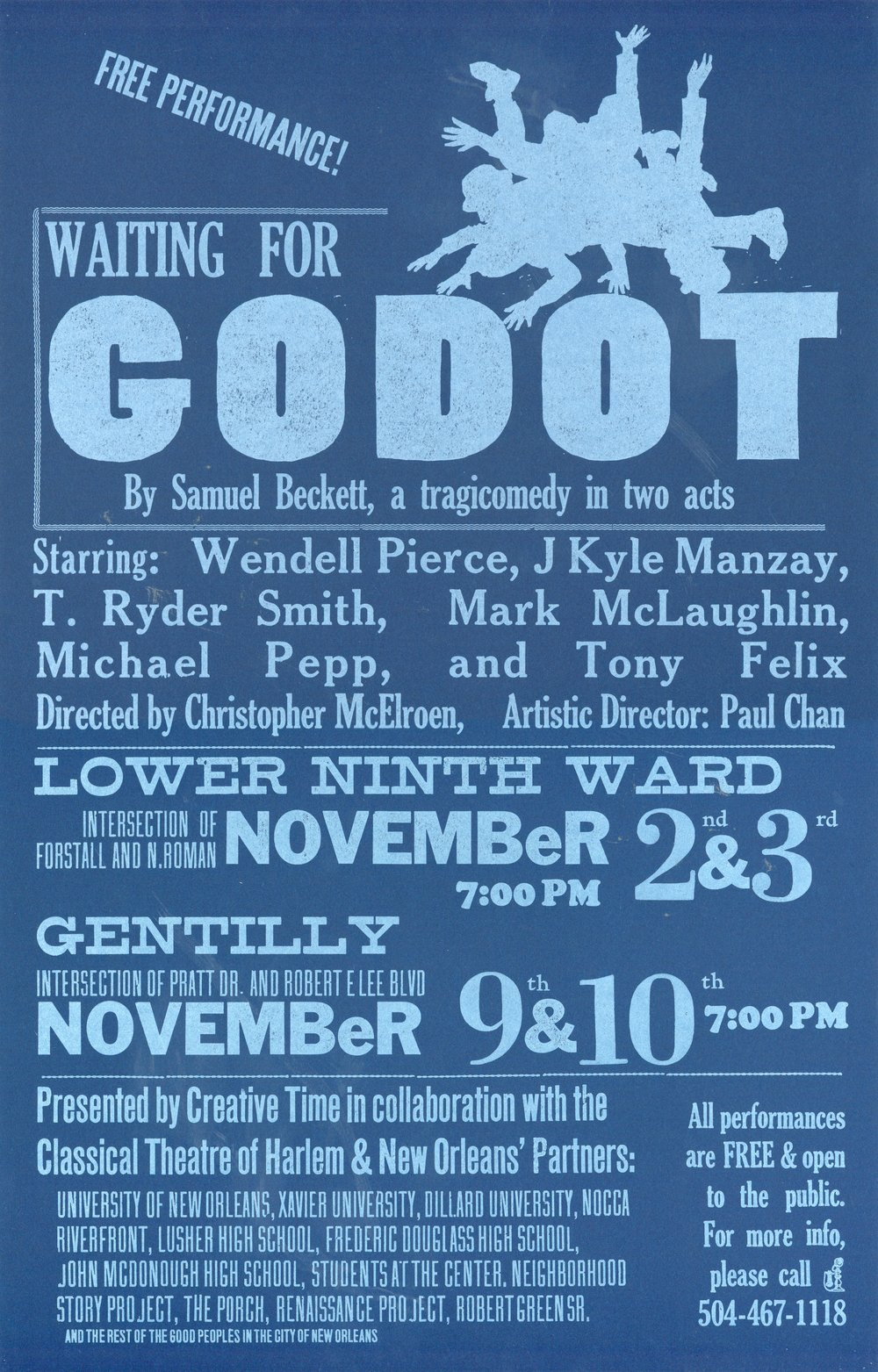 Poster of Waiting for Godot in New Orleans