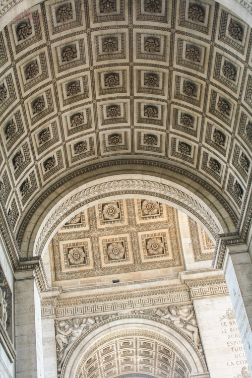 Arc de Triomphe interior