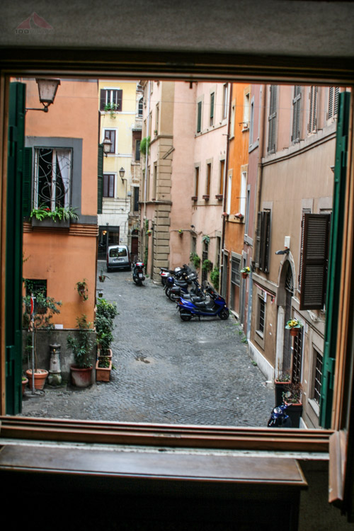The view from our room in Rome