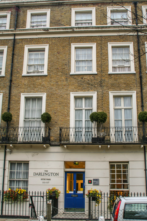 Where we stayed in London