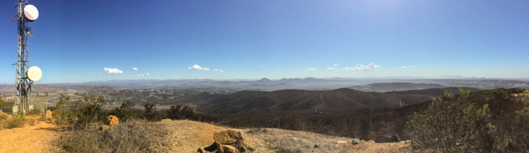 Panoramic view from Black Mountain to the west