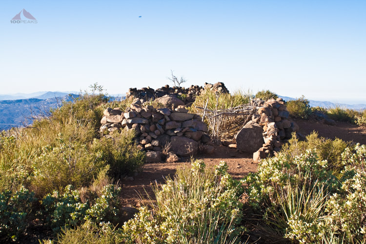 Rock pile on Viejas Mountain Summit