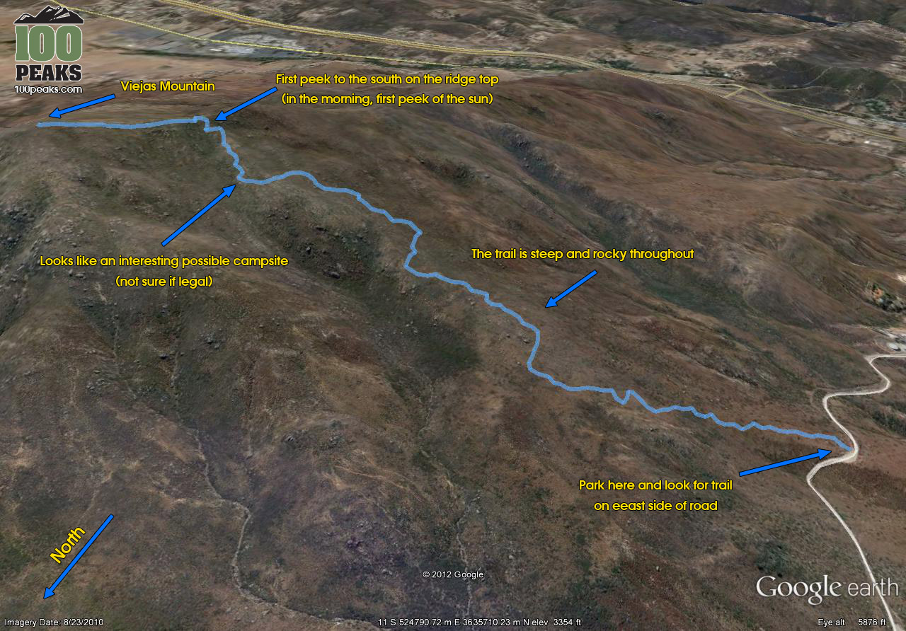 Viejas Mountain Trail Map