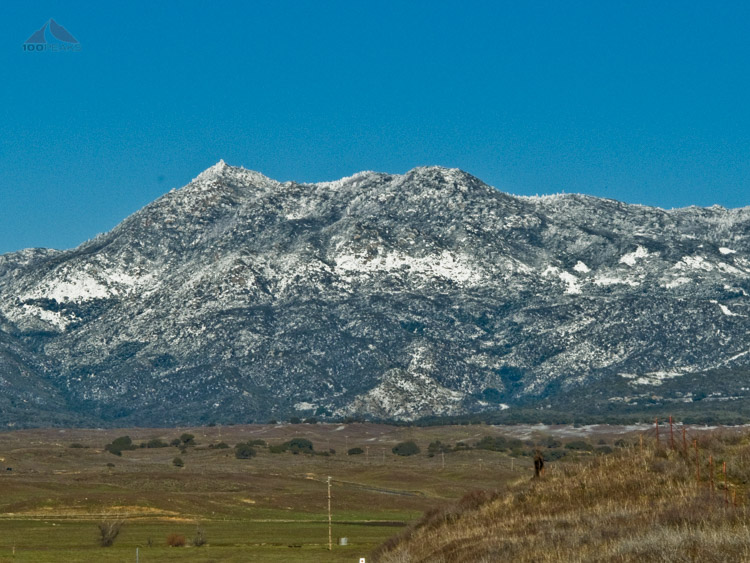 Hot Springs Mountain, San Diego, Covered in Snow in 2011