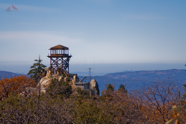 The tower from Hot Springs Mountain summit block