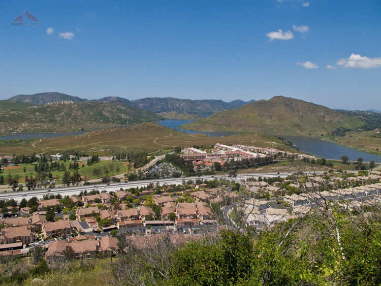 Lake Hodges, Del Dios, and Bernardo Mountains from Battle Mountain