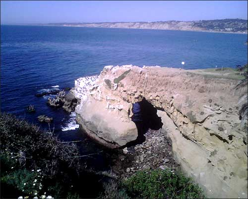 The cove by the cave in La Jolla