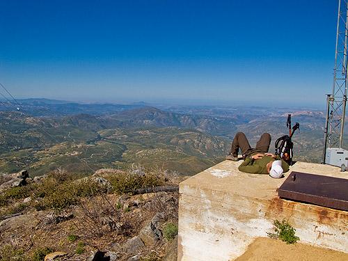 Relaxing on Cuyamaca Peak