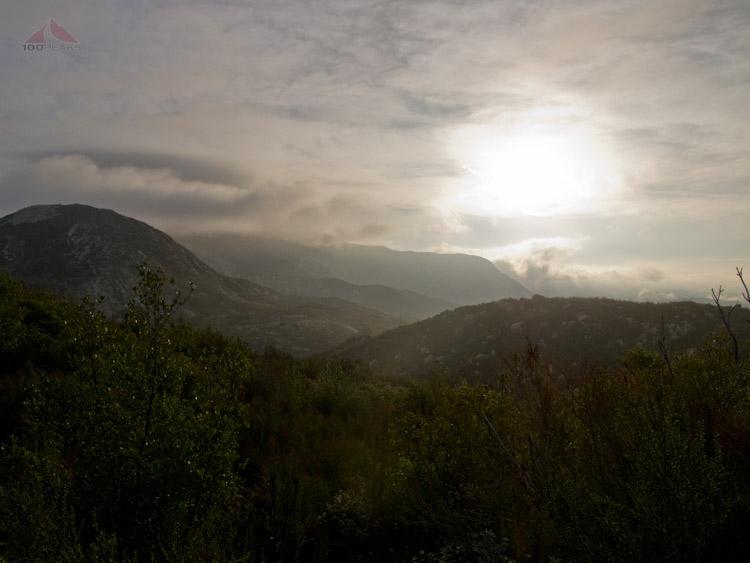Sunrise over El Cajon Mountain