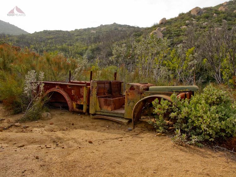 Jeep shell on the way to El Cajon Mountain