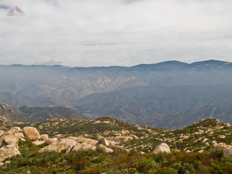 Eagle Peak and the San Diego River Valley