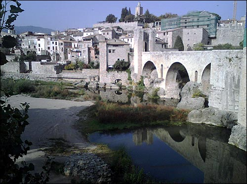 I visited the charming town of Besalu
