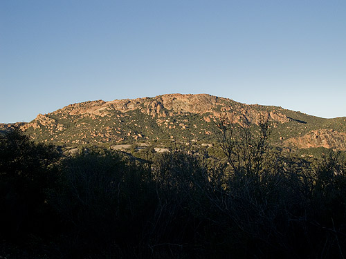 Sunrise on Morena Butte from the Pacific Crest Trail